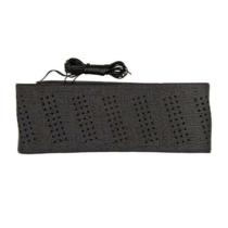 Kormányvédő, fűzős, fekete, perforált, 37-39cm (HD-KV-HB6077K-B)