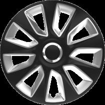 "Dísztárcsa 15"" Stratos Ring Chrome Black & Silver (4 darabos garnitúra)"