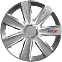 "Dísztárcsa 16"" GTX Carbon Silver (4 darabos garnitúra)"