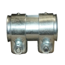 Kipufogó csőtoldat bilincsekkel, 46x50x95 mm (265-129)