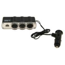 3-as szivargyújtó elosztó USB-vel