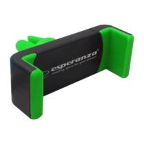 Telefontartó szellőzőrácsba fekete-zöld