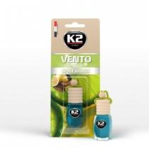 K2AUTO citrus illatú légfrissítő üvegben, 8ml, VENTO SPICY CITRUS