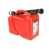 Két kamrás piros kanna, 5+2 liter kiöntővel