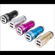 Dupla szivargyújtó-USB adapter, gyorstöltő, 2,1A+1,0A (CS-HST-025, SZR110.., 470029)