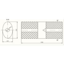 Univerzális kerek kipufogódob, Ø40, 350x110mm, 1be1ki