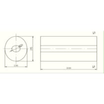 Univerzális ovál kipufogódob, Ø50, 350x210x120mm, 1be1ki