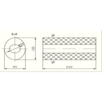 Univerzális ovál kipufogódob, Ø50, 350x210x120mm, 1be1kieltolt