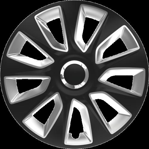 """Dísztárcsa 15"""" Stratos Ring Chrome Black & Silver"""