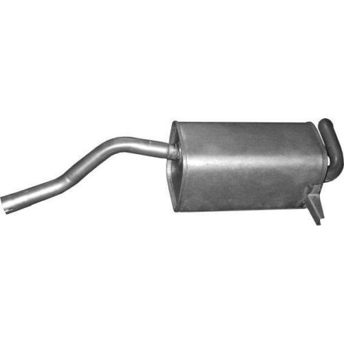 Kipufogódob, hátsó, Renault Grand Modus 1.2-1.6, Renault Modus 1.2-1.6, 2004-