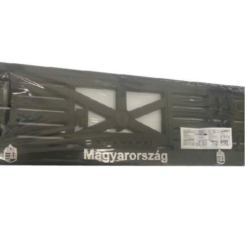 Rendszámtábla tartó, 3D feliratos, logós, Magyarország (P318)
