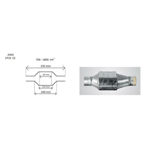 Katalizátor CP 15, ovál Ø55mm 700-2000 cm3 EURO2 (CP2055)